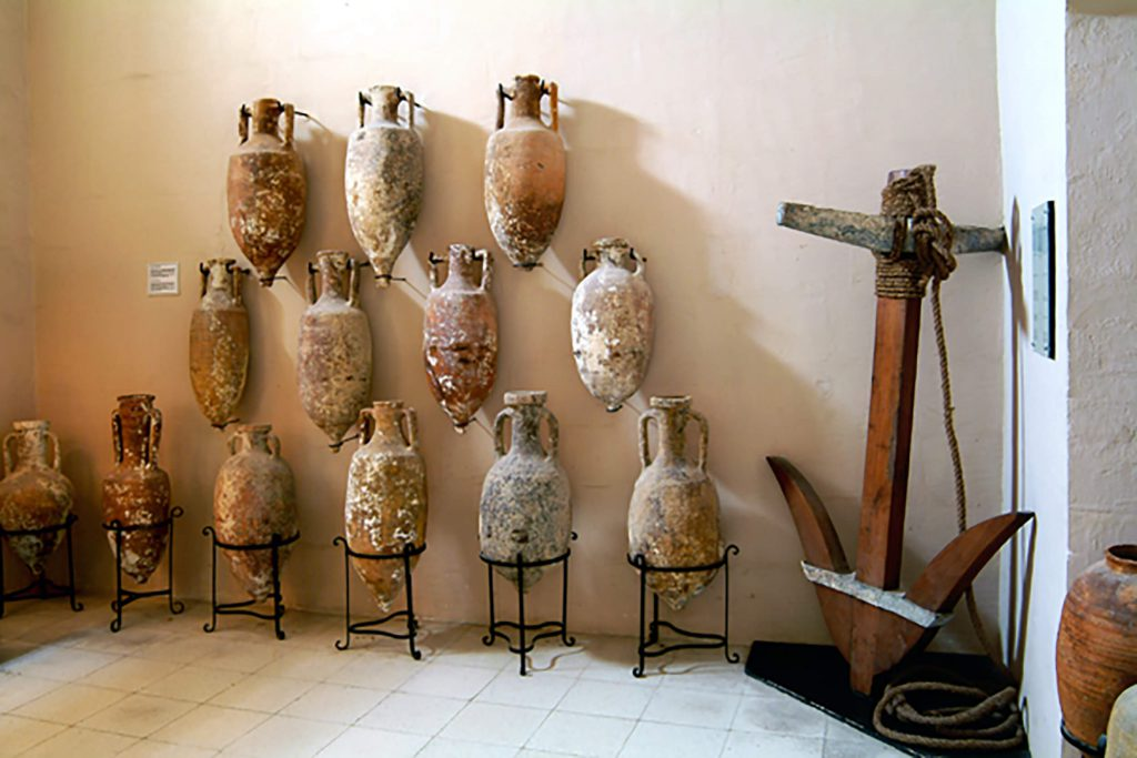 Amphorae dating back to the Roman period