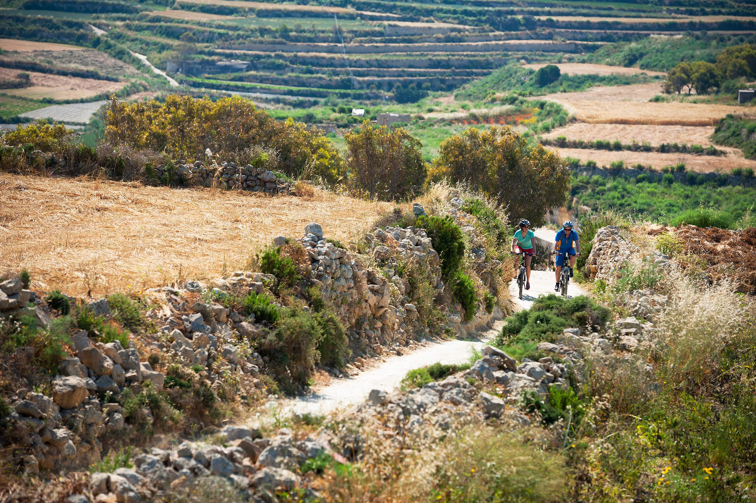 Cycling countryside Gozo