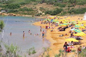 Summer in Gozo is also about lazy days at the beach.