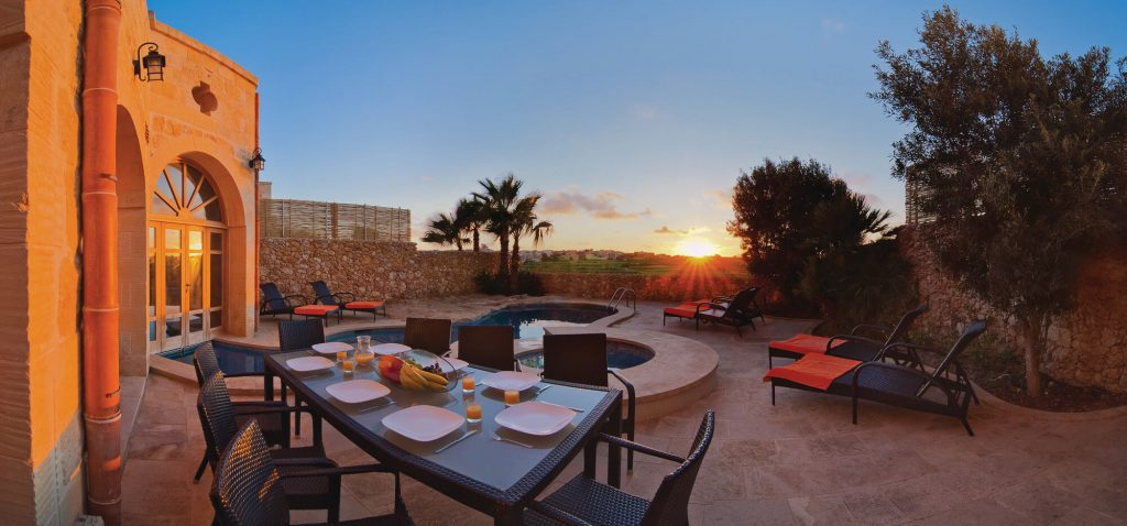 Different types of accommodation available in Gozo