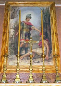 Painting of San Martin found in Nadur's Parish Church, Gozo