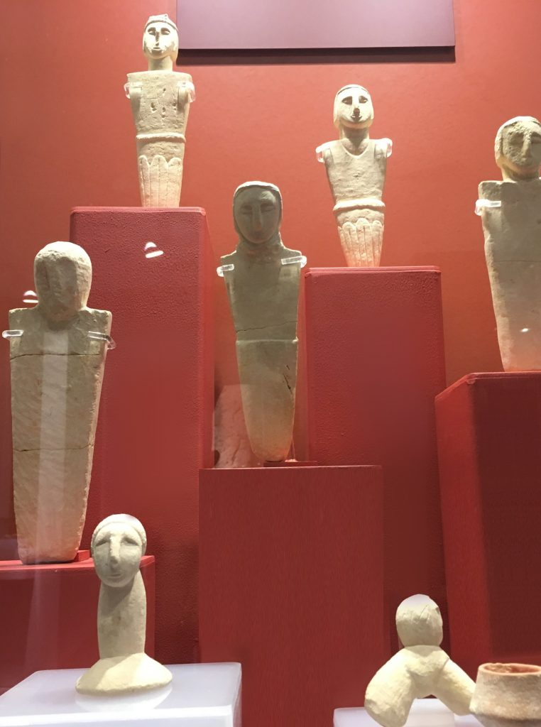 Stone statuettes carved out of limestone, from the Xagħra Circle, Gozo
