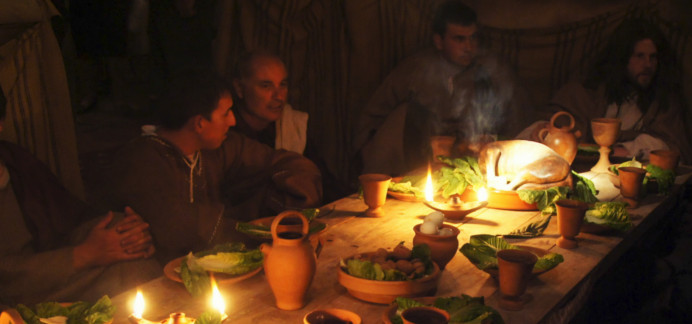Live re-enactment of The Lord's Last Supper at Ta' Passi Fields in Gozo