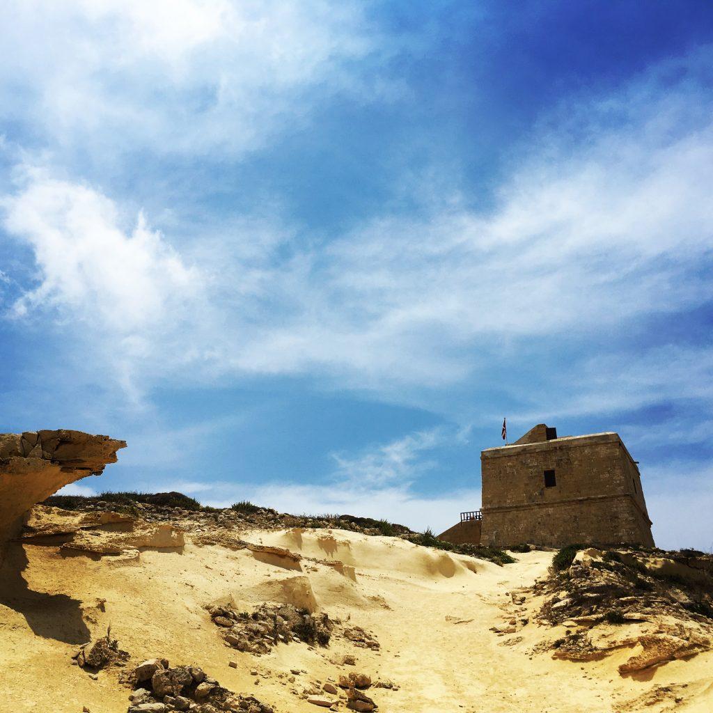 Exploring the coastal area of Dwejra