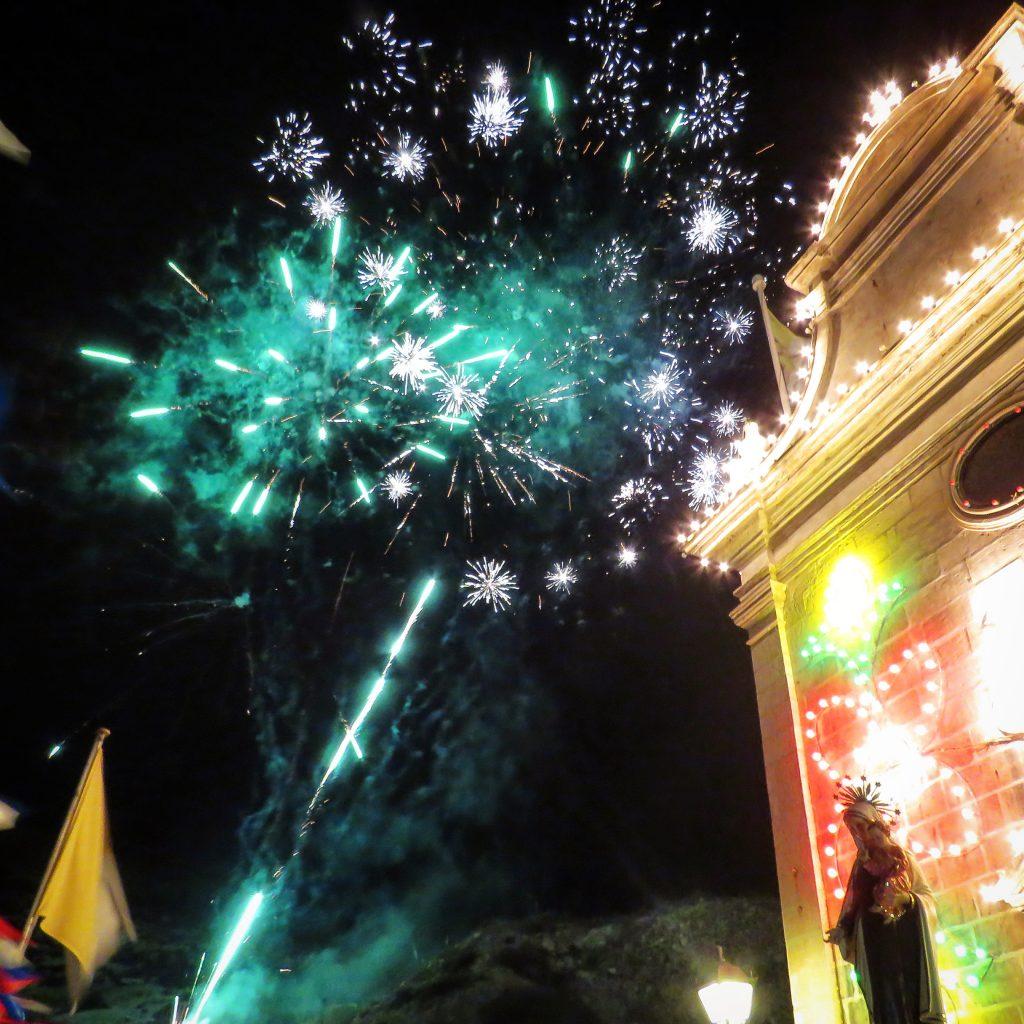 Fireworks light up the sky in Xlendi