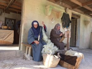 Wool spinning at Bethlehem in Għajnsielem