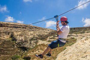 Zipline adventures in Gozo