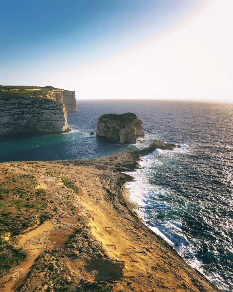 Aerial photograph of Dwejra Gozo