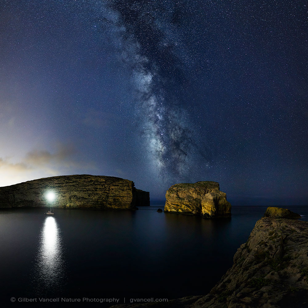 The milky way as viewed from Dwejra Gozo