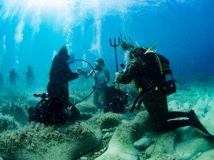 Gozo underwater wedding ceremony