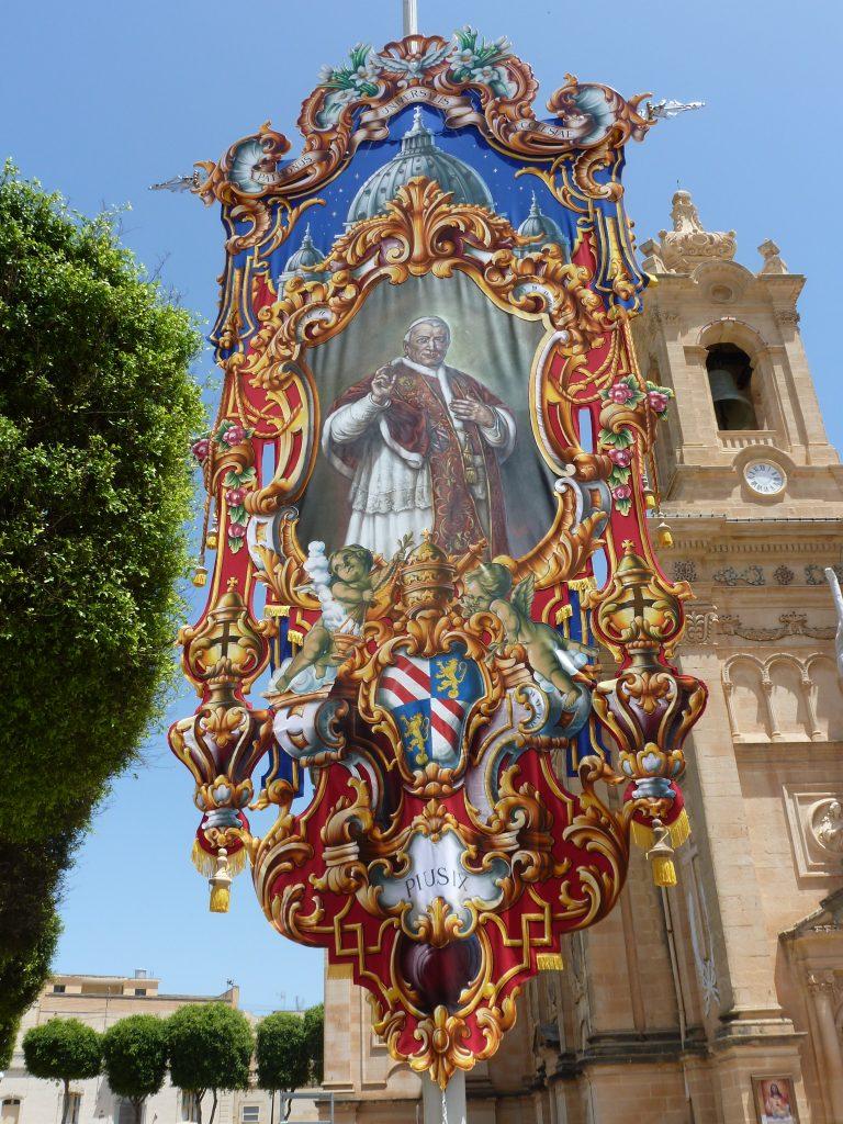 The bandalori street decoration at Qala Church in Gozo