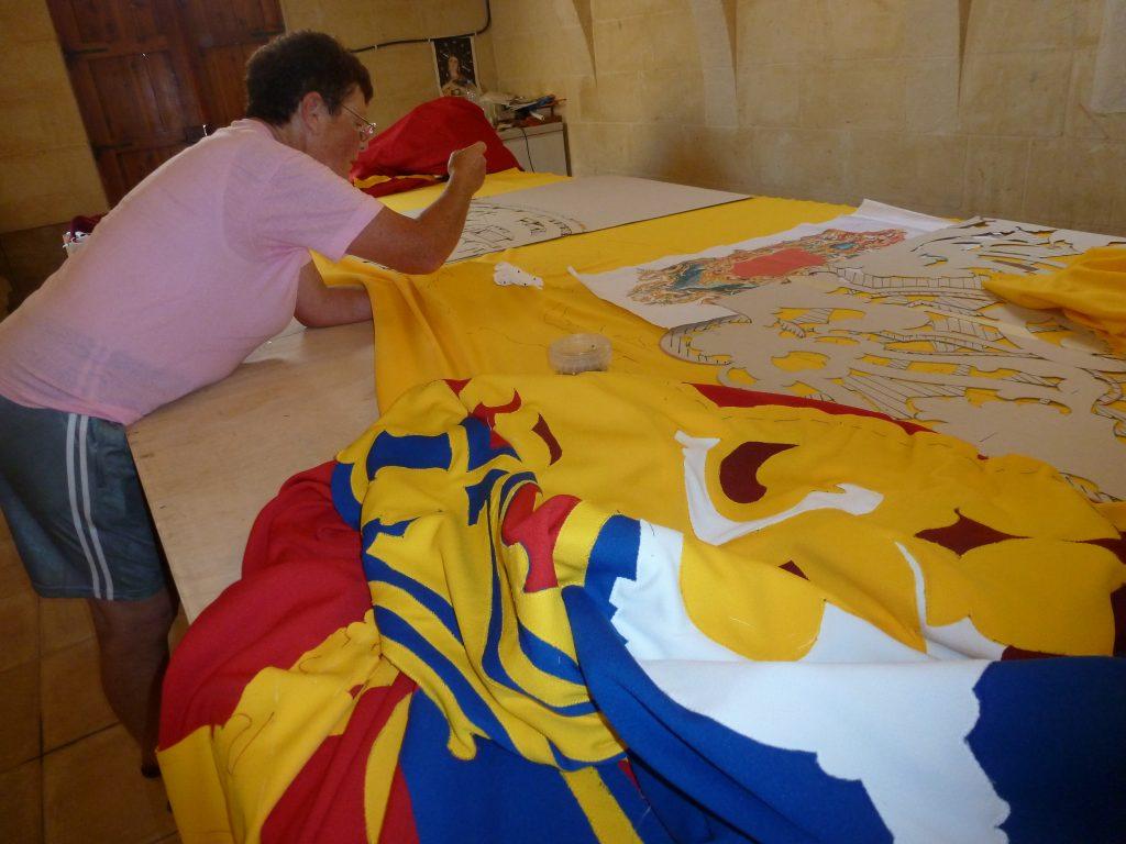 Gozitan local working on traditional bandalori