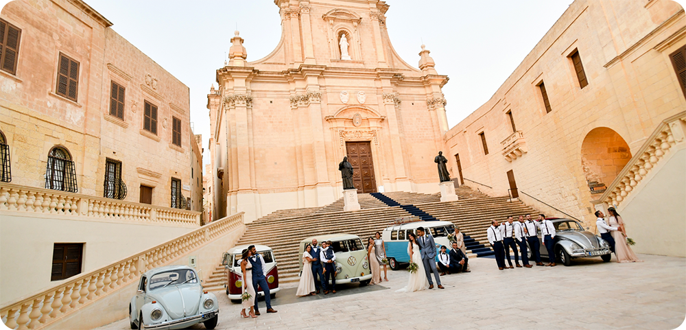 Wedding at the Gozo Cathedral.