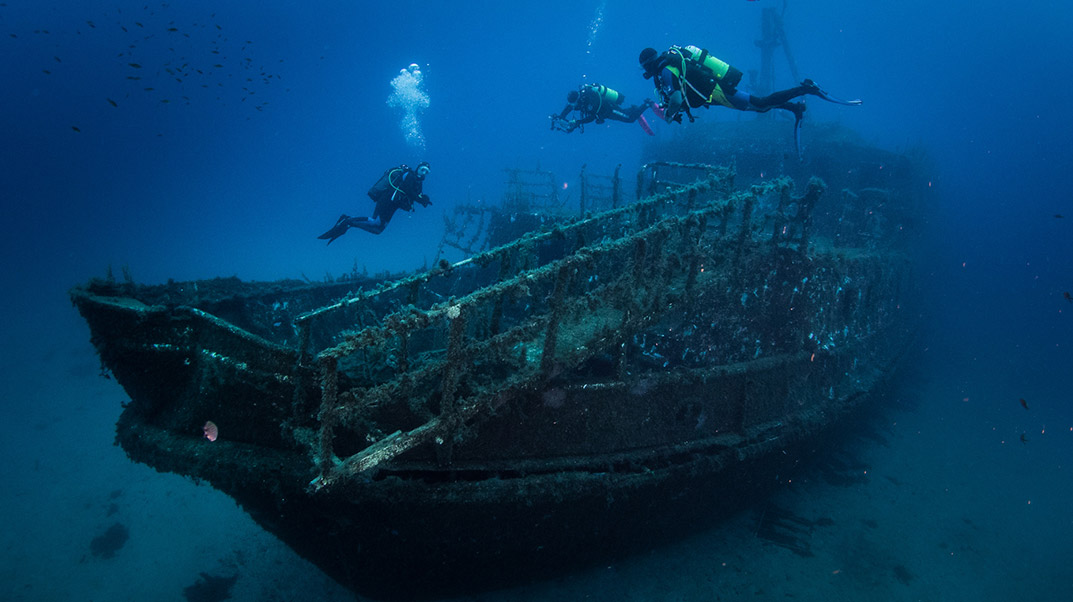 Discovering one of Gozo's four wrecks.