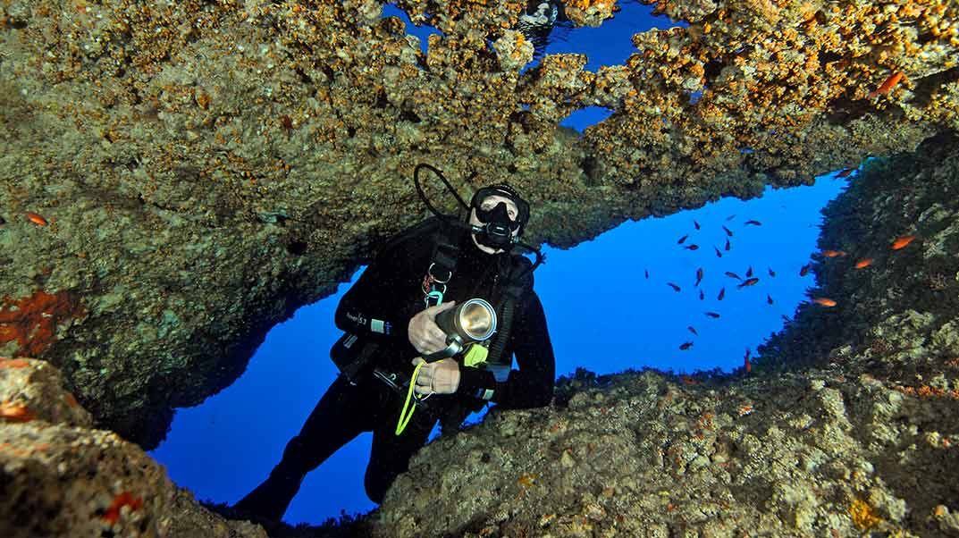 Diving the Billinghurst Cave in Gozo