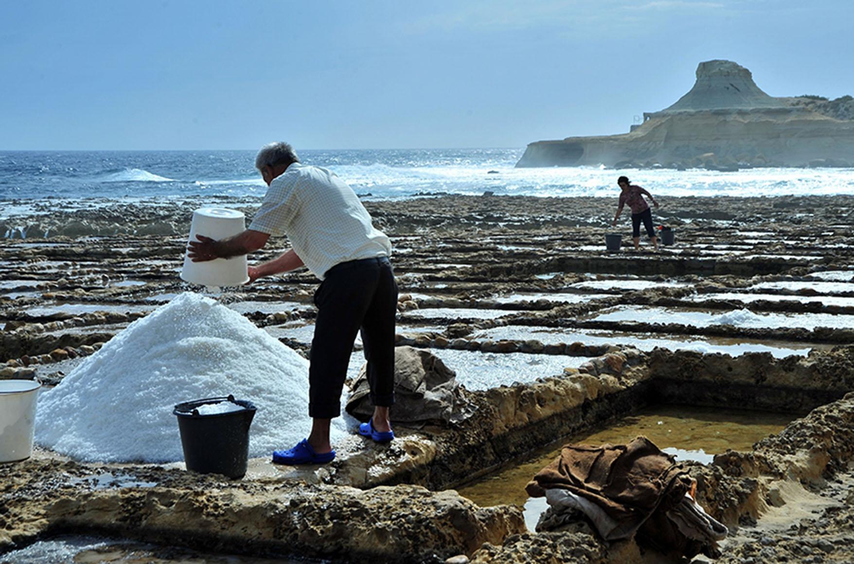 Sea-salt harvesting