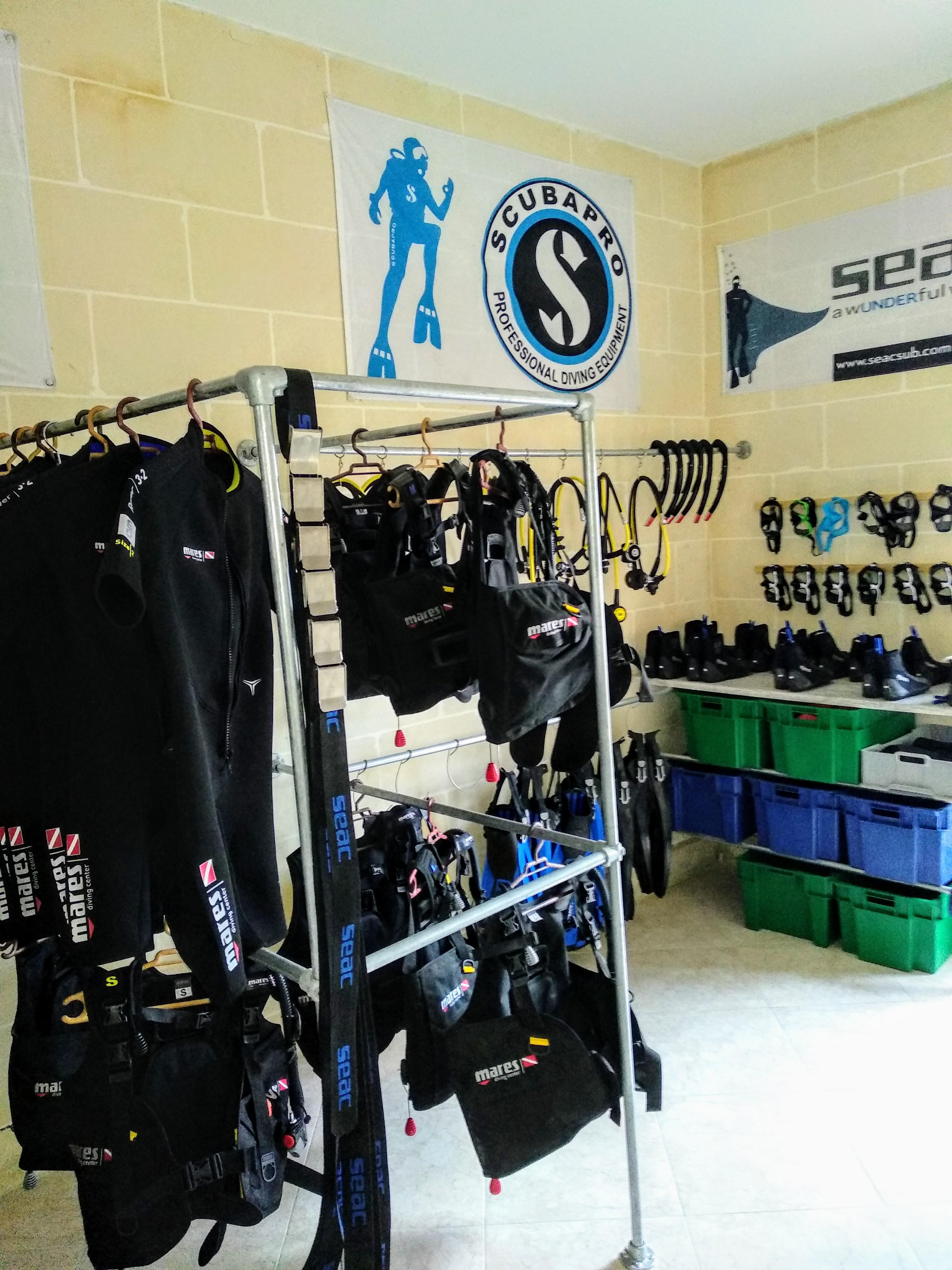 Endless Oceans Dive Centre Gozo Equipment Room